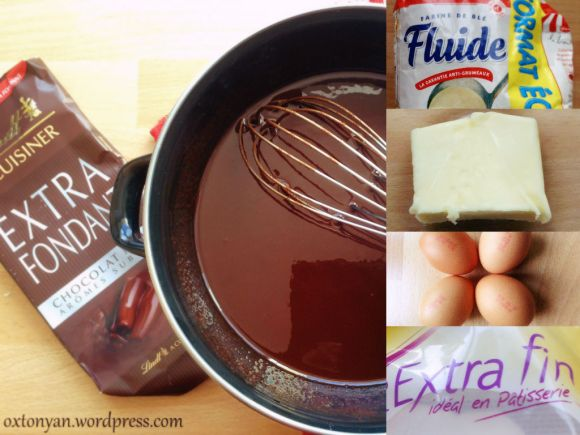 fondant chocolat recette