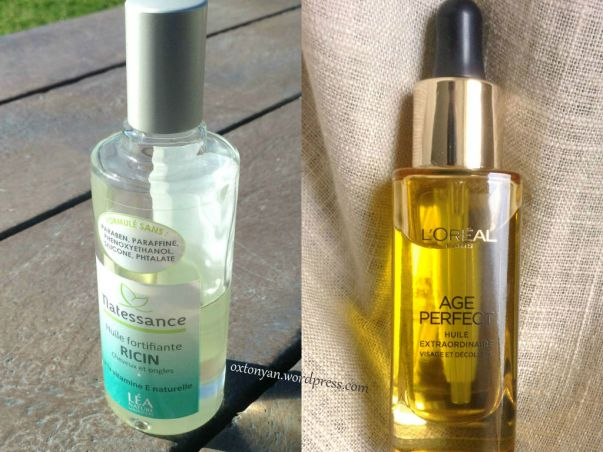huile de ricin vs loreal age perfect