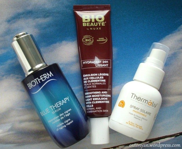 blue therapy biotherm bio beaute nuxe emulsion thermaliv