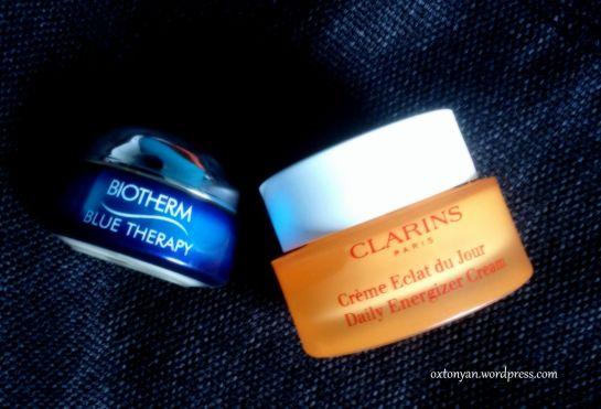 clarins eclat de jour biotherm blue therapy