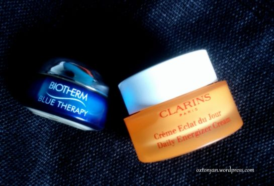 clarins eclat de jour biotherm blue therapy