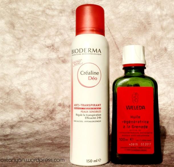 bioderma crealine deo weleda huile grenade