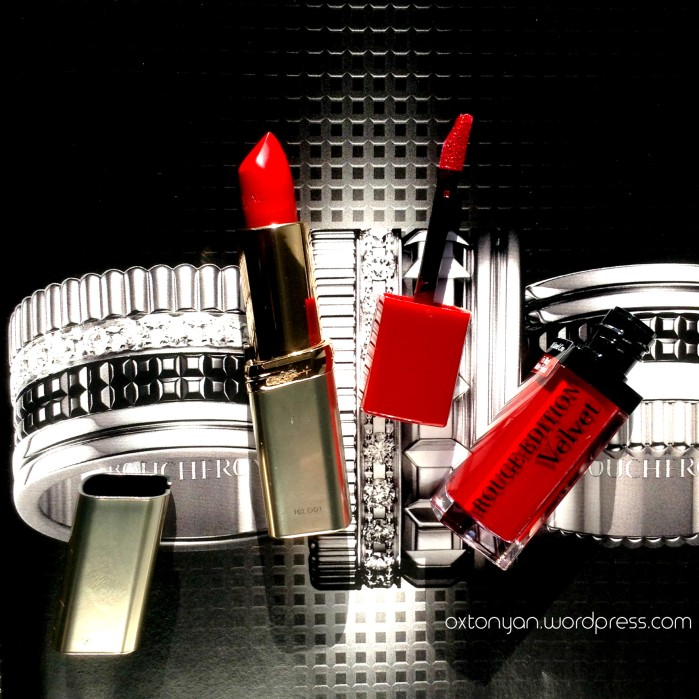 red lips rouge parfait loreal bourjois