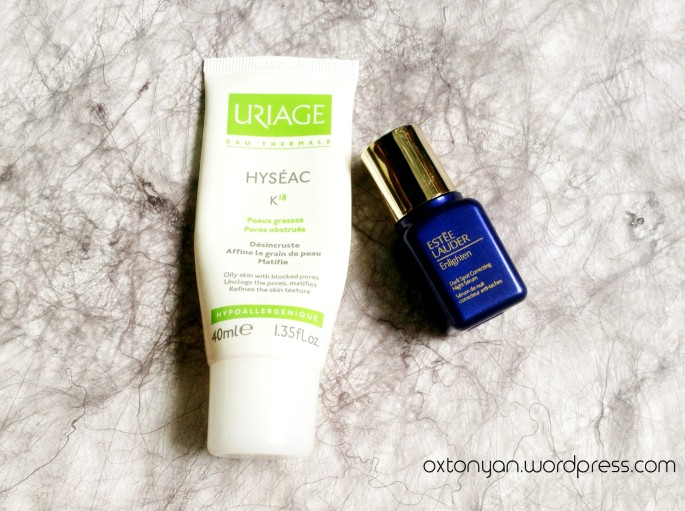 estee lauder enlighten serum uriage hyseac k18
