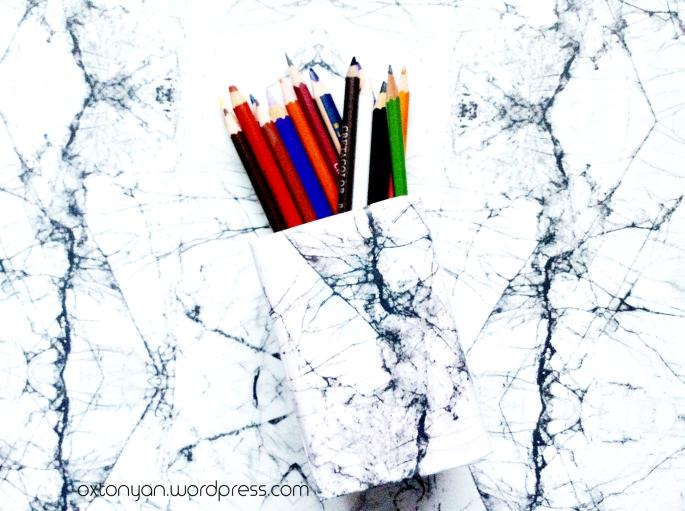 pot crayons pinceaux diy back to school