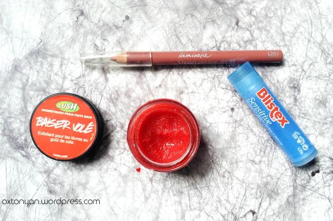 baiser vole lush crayon luminelle baume blistex sensitive