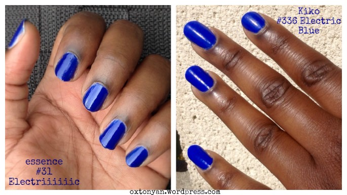 essence 31 electriiiiiic vs kiko 336 electric blue np