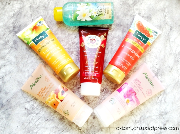 shower gel douche fruits summer