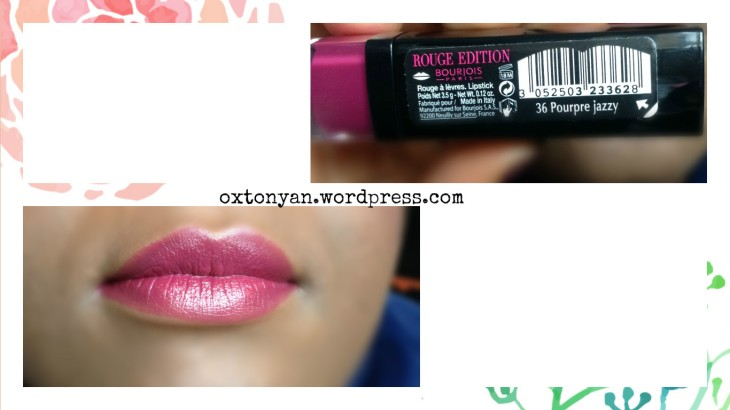 bourjois rouge edition pourpre jazzy 36