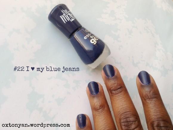 essence gel nail polish the matt 22 i ♥ my blue jeans