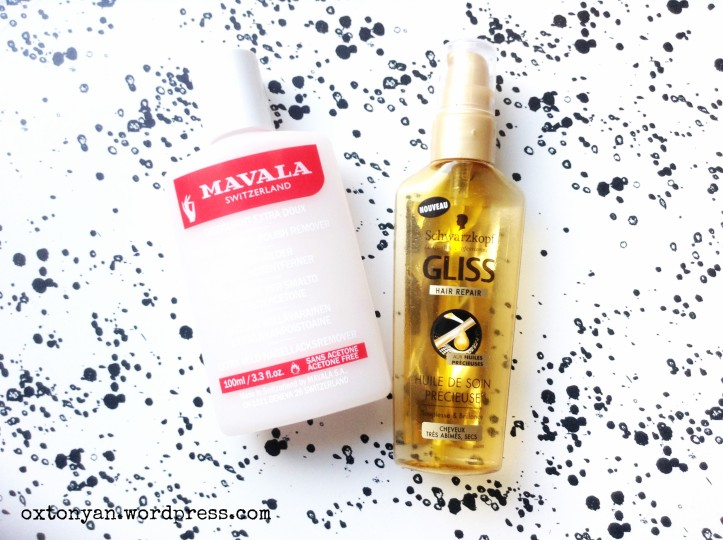 mavala rose nail polish remover shwarzkopf gliss repair huile precieuse