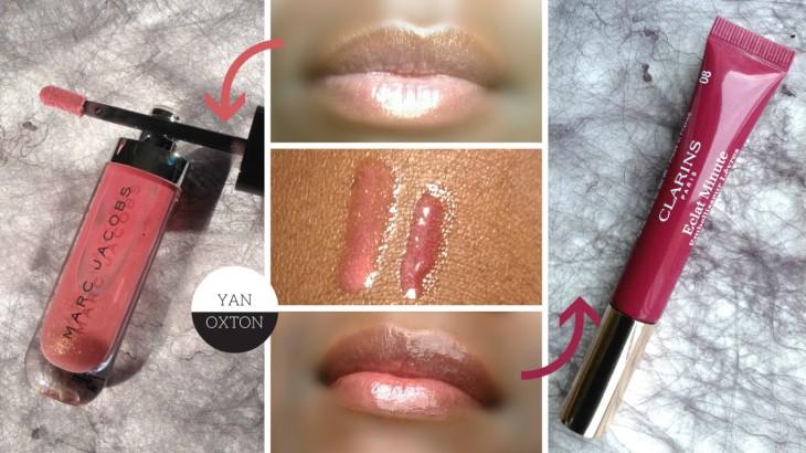 clarins eclat minute vs marc jacobs lip lacquer