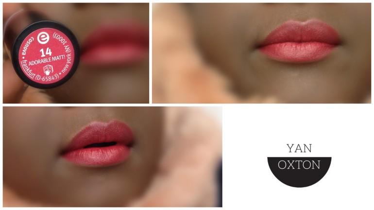 essence lipstick 14 adorable matt