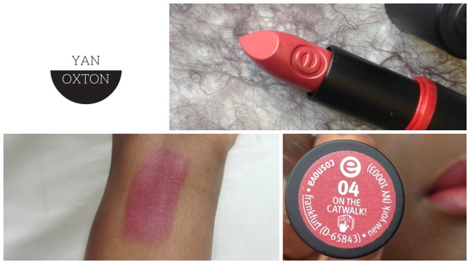essence lipstick 14 on the catwalk swatches