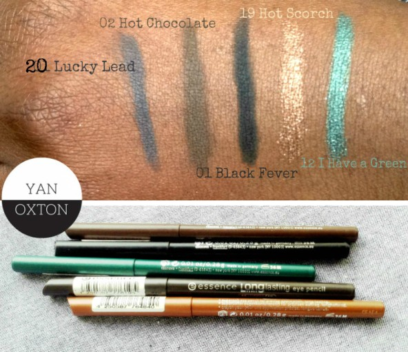 essence longlasting eye pencil swatches