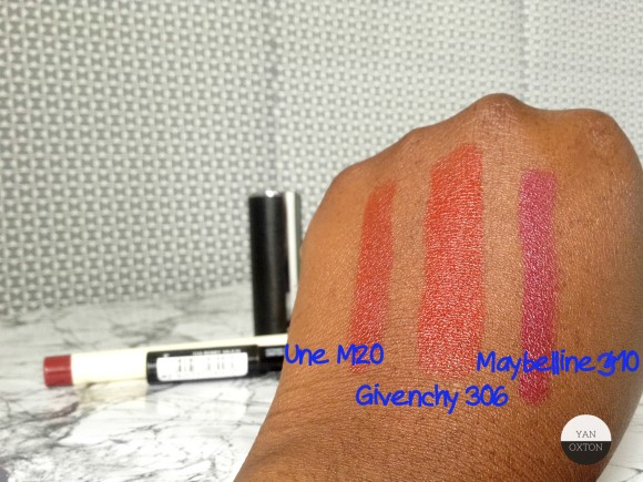 lipstick swatches givenchy maybelline une