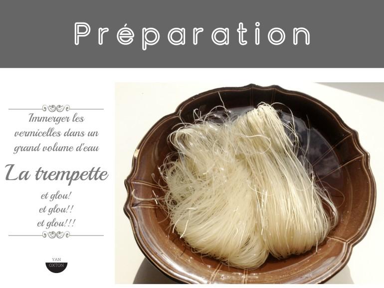 preparation vermicelles