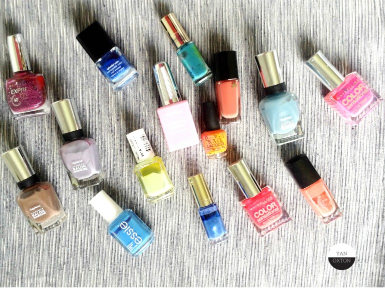 vernis essie maybelline lancome loreal ck sally hansen opi