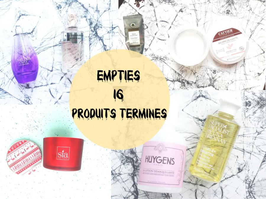 Empties // Produits terminés#16