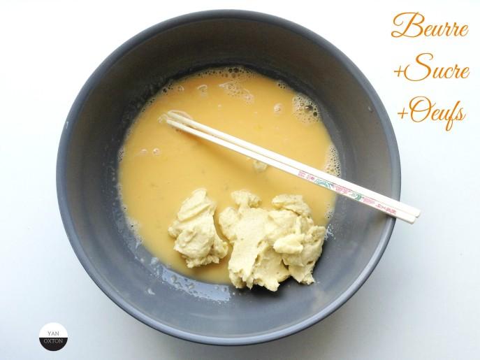 melange beurre sucre oeufs