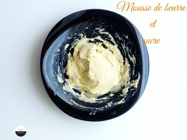 mousse beurre + sucre