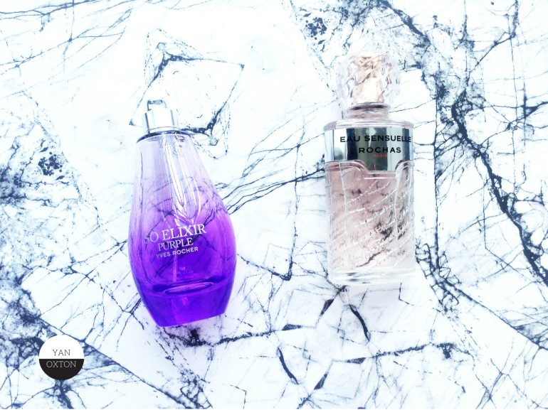 yves rocher so elixir purple rochas eau sensuelle